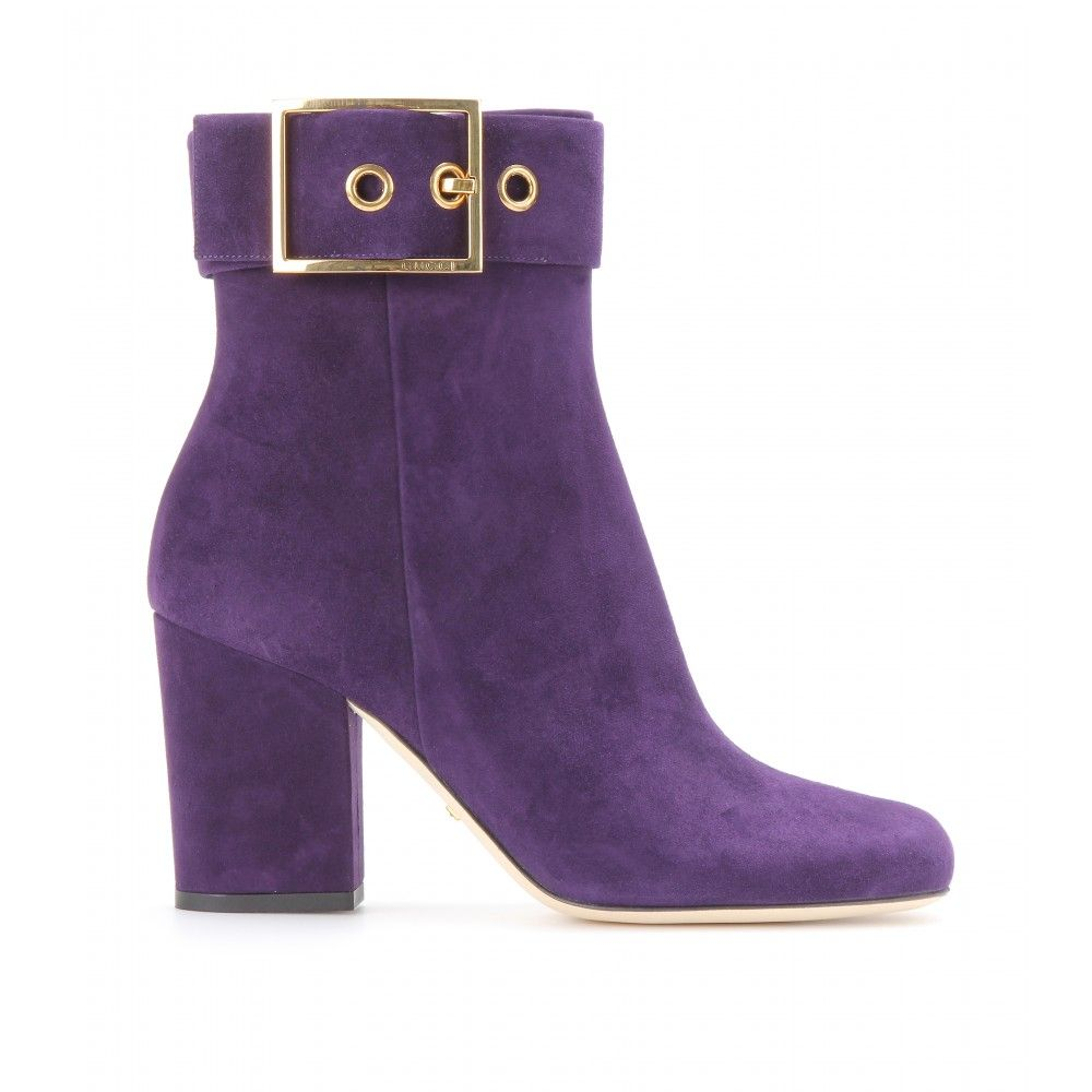 e626d068c Gucci Kesha Suede Ankle Boots in Purple | Lyst Zapatos, Praga, Botines De  Ante