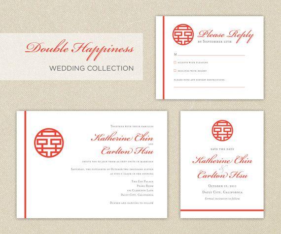 Diy Printable Editable Chinese Wedding Invitation Card Template I Chinese Wedding Invitation Diy Printable Wedding Invitations Wedding Invitations Rsvp Cards