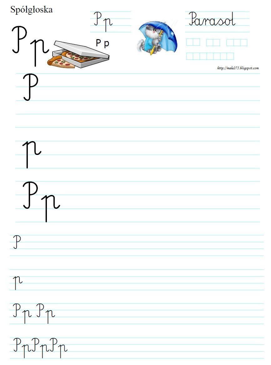 Blog Edukacyjny Dla Dzieci Literka P Polish Language Worksheets For Kids Classroom