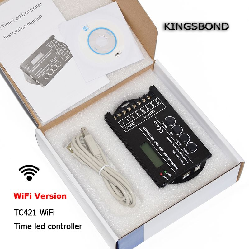 WiFi smartphone tijd programmeerbare led controller TC420 dimmer led ...