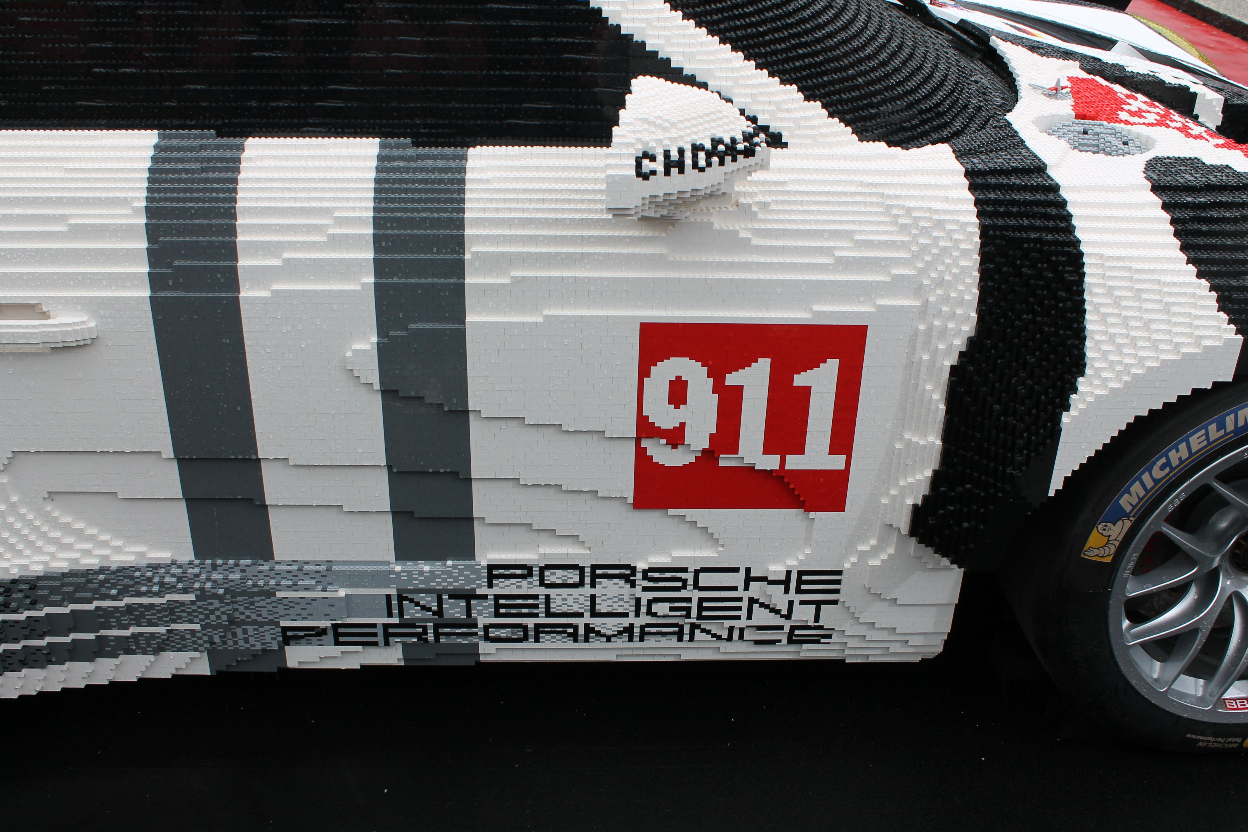 Half Of This Porsche Is Made Of Lego Bricks Porsche