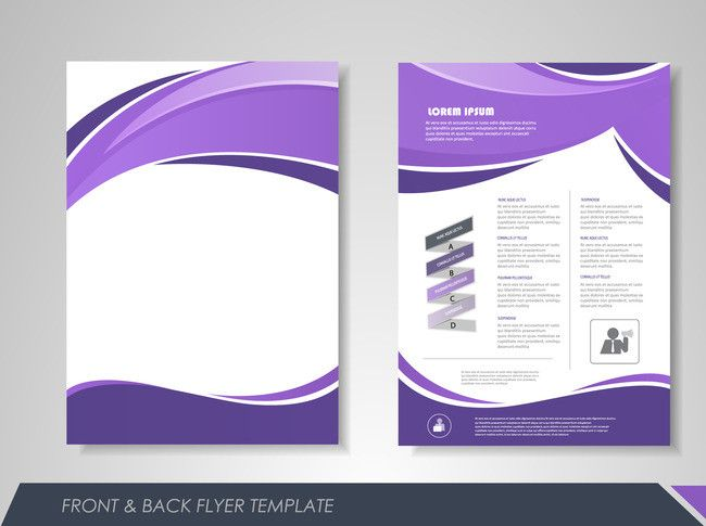 fashion business single page brochure design vector material