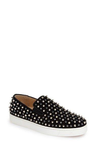 Christian Louboutin  Roller  Studded Slip-On Sneaker (Women) available at   Nordstrom 0069a236e0