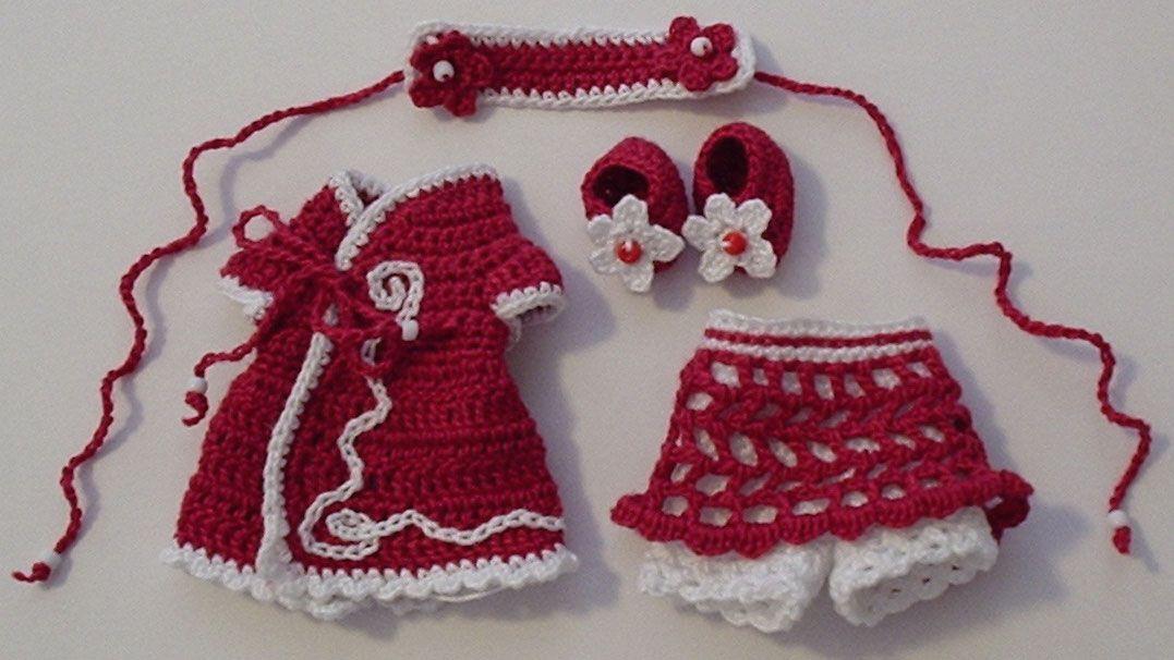 Free Crochet Baby Dress Patterns | CLOTHES CROCHET DOLL KELLY ...