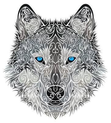 Pin By Prabh Kaur On Tattoos Tribal Wolf Tattoo Wolf Tattoo Design Tribal Wolf