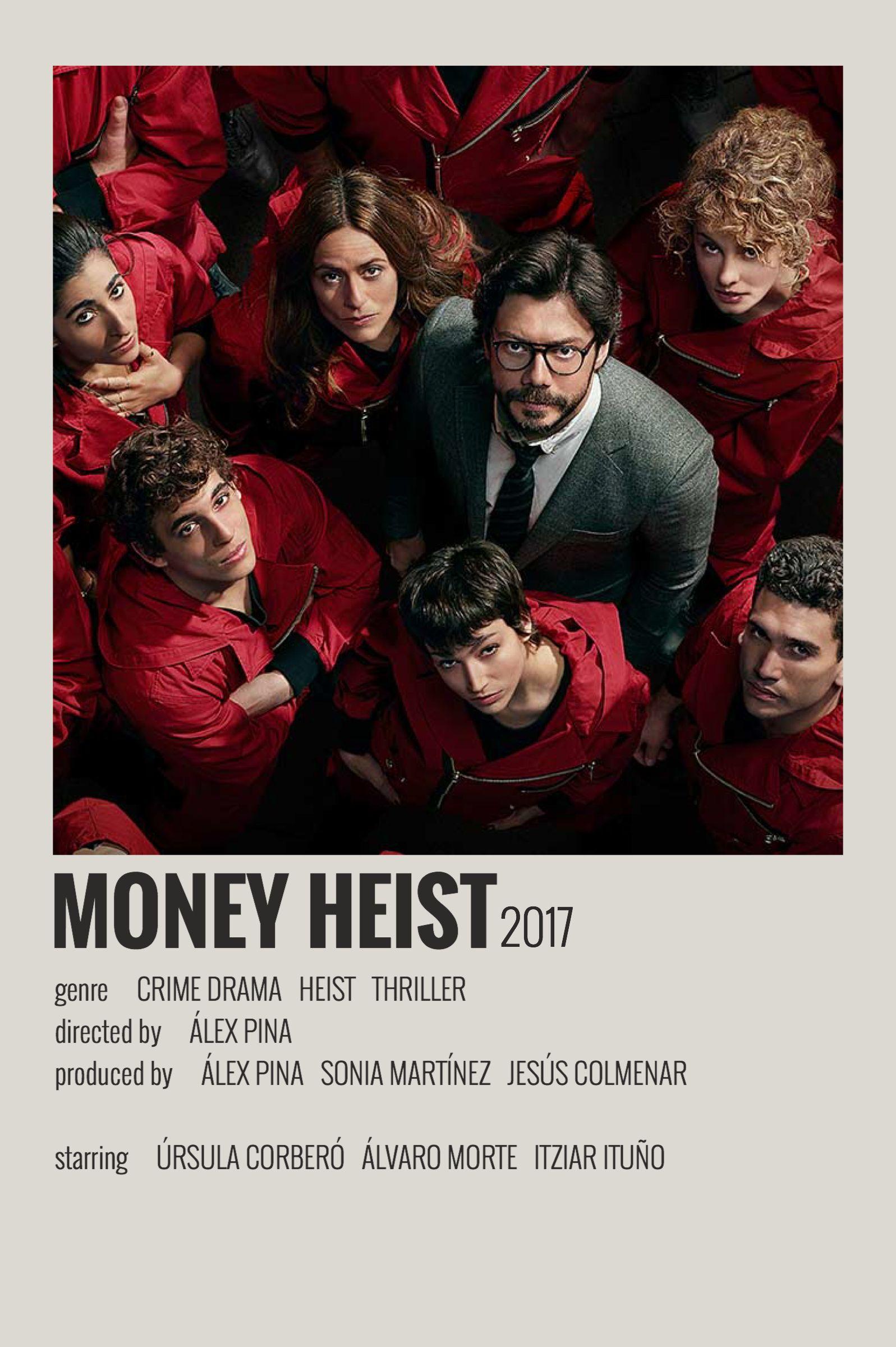 Alternative Minimalist Movie/Show Polaroid Poster - Money Heist