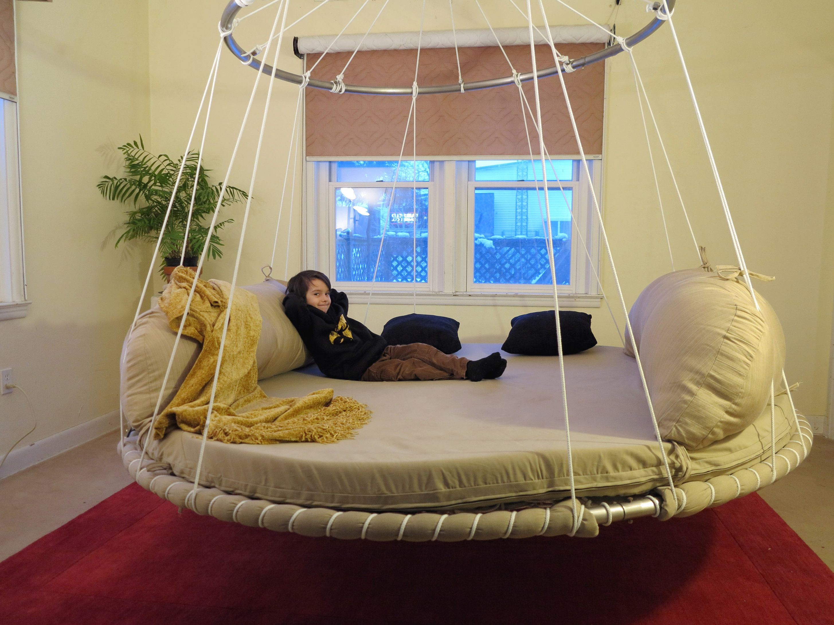 Bedroom Hanging Bed Designs Floated Ideas Hanging Bed Bed Design