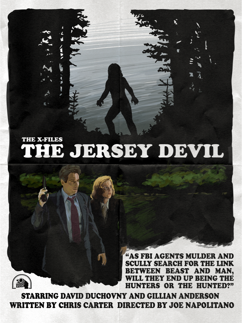 the jersey devil 1x04 a brand new poster for another rewatch episode this design was. Black Bedroom Furniture Sets. Home Design Ideas