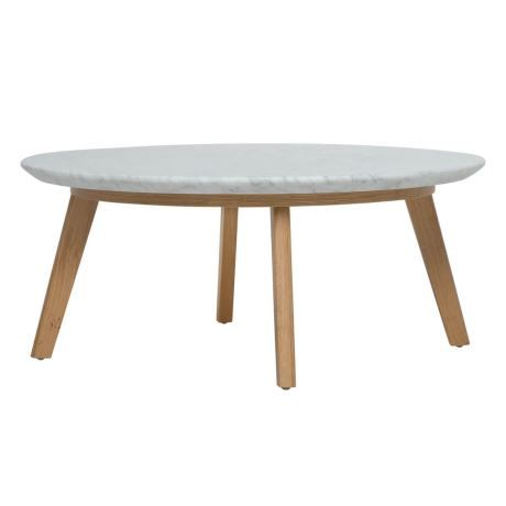 Quarry Occasional Table Low In Marble Amp Oak Beach Style