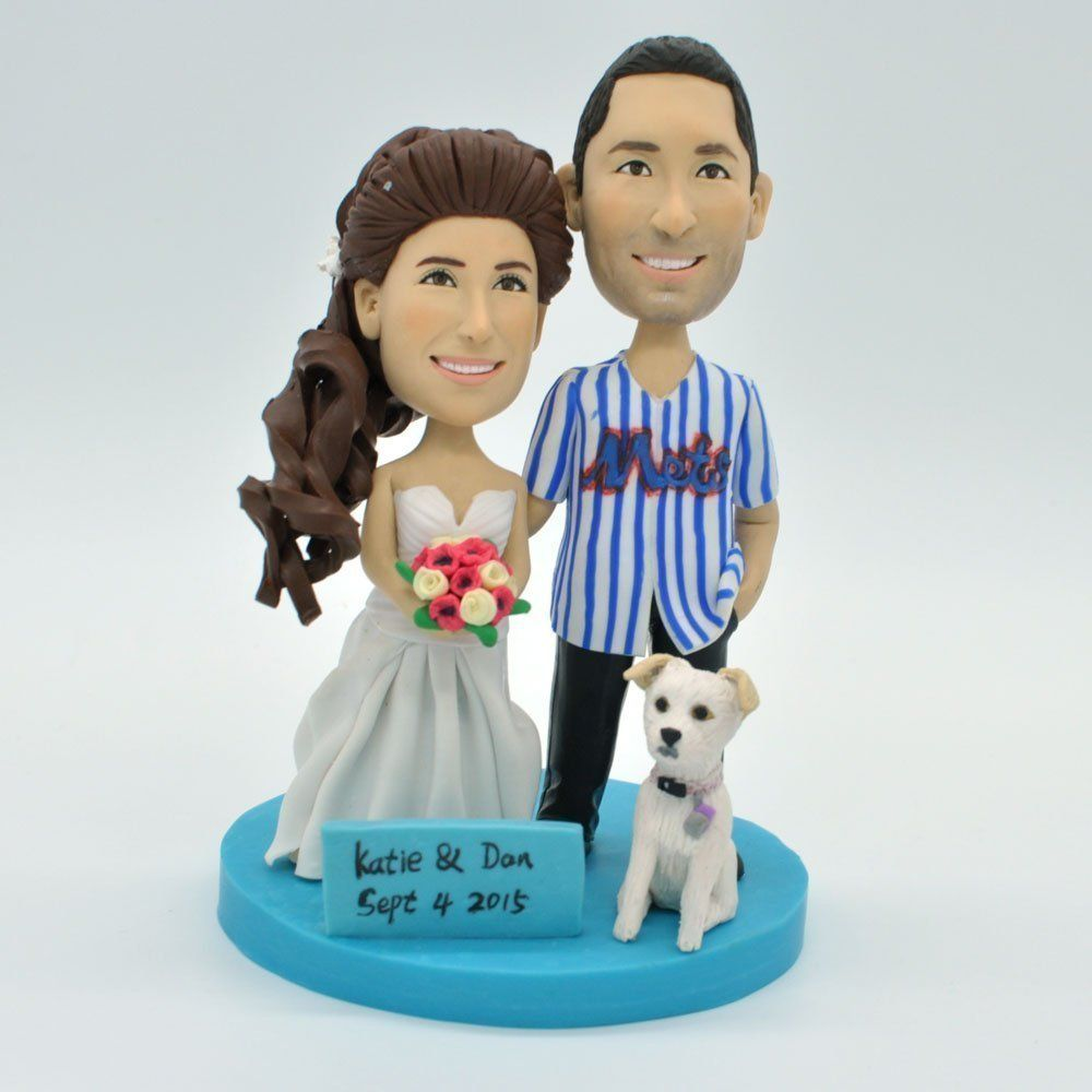 Wedding bee diy funny cake topperwedding bobbleheadsbobble heads