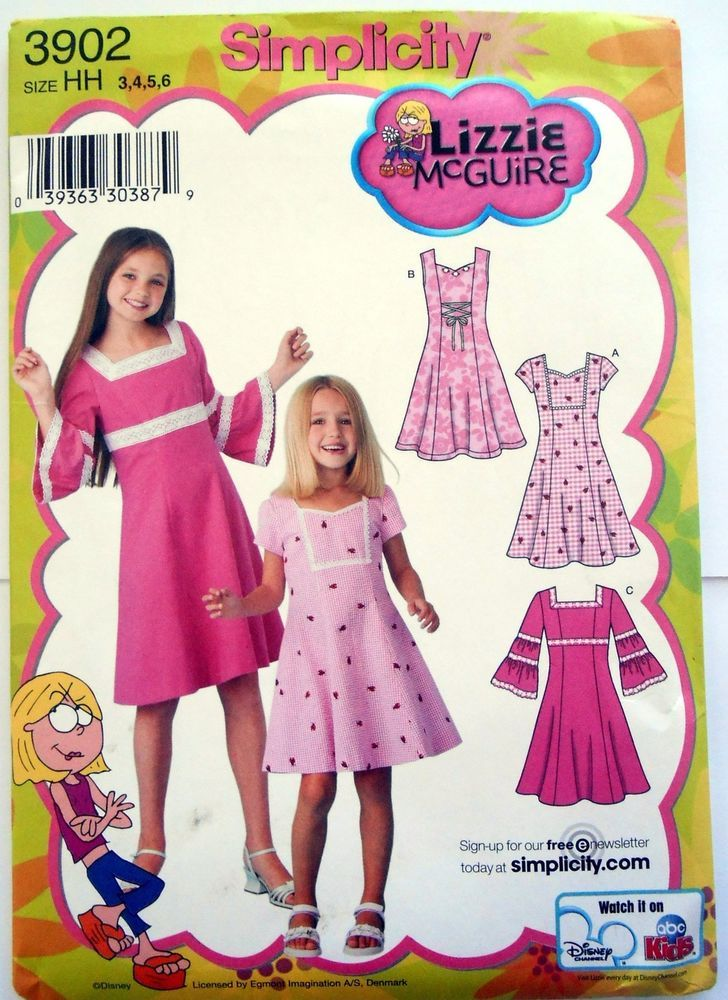 Simplicity Pattern #3902 Lizzie McGuire Dress with Neckline ...