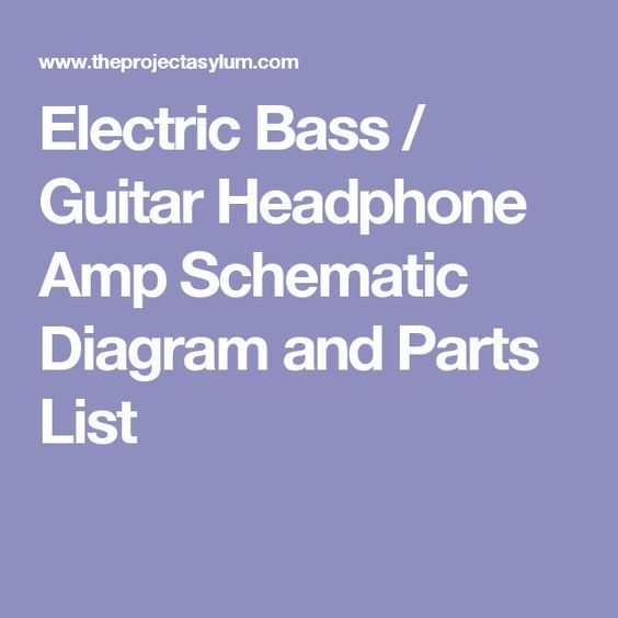 359338659fe08995f78693526640aeda electric bass guitar headphone amp schematic diagram and parts