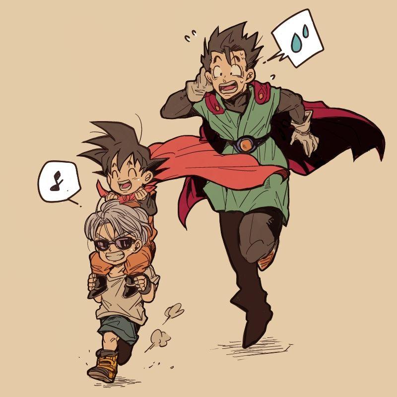 and trunks gohan Dragon yaoi z ball