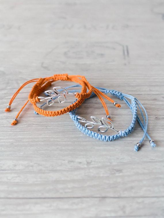 8c27265f83554 Matching couple bracelets Olive branch bracelet set His and her ...
