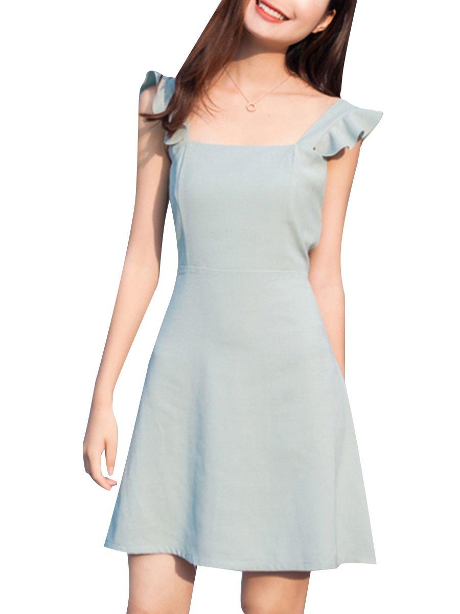 Buy Women s Dress Ruffles Solid Color Sweet Aline Dress   Women s Dresses -  at Jolly Chic 876f65e7c