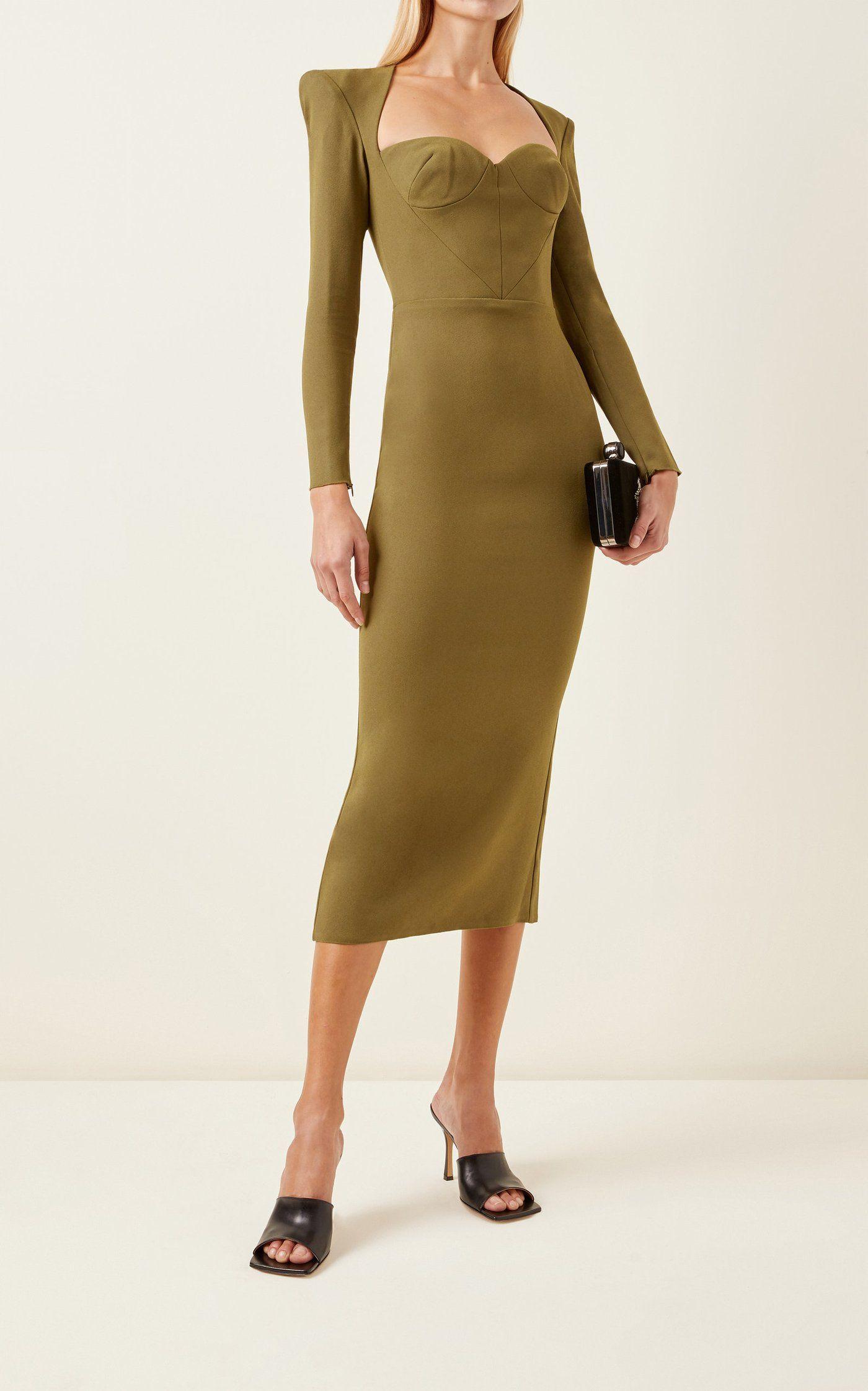 Ambrose Sweetheart Neck Crepe Midi Dress By Alex Perry Moda Operandi Dresses Midi Dress Sweetheart Neck [ 2243 x 1400 Pixel ]