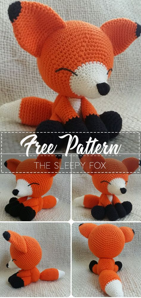 The Sleepy Fox – Pattern Free – Easy Crochet #crochetanimals
