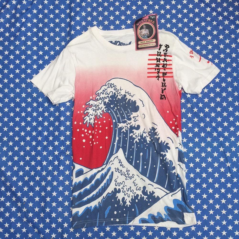 fa0b9f6468c50 Pink Floyd Tour 74 - worn by Nick Mason all over print sample   Worn ...