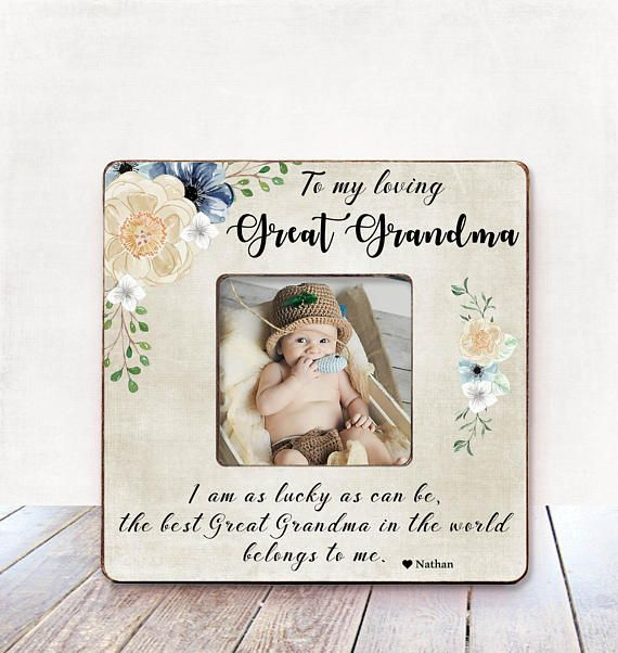 Great Grandma Mothers Day Gift Photo Frame Pregnancy Announcement Birthday