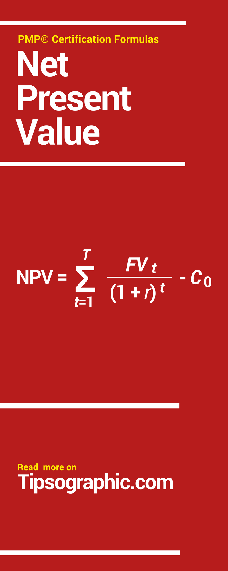 Pmp Certification Formulas Net Present Value Pinterest Pmp Exam