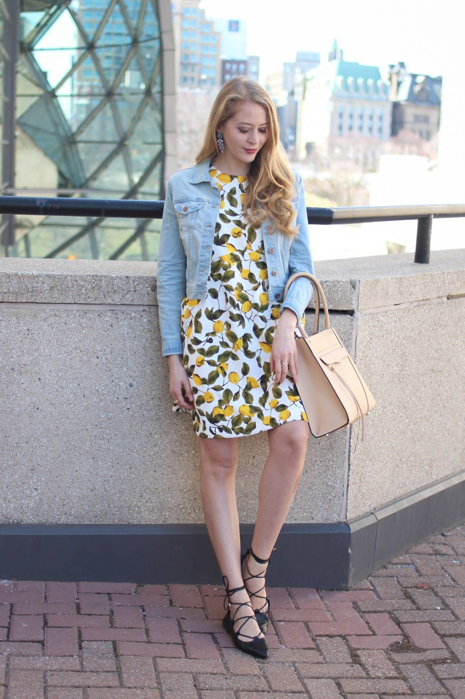 6458ab88 Nothing says spring like a fun dress, and this lemon print dress from Zara  is the perfect transitional piece to go from chilly spring days to summer  ...