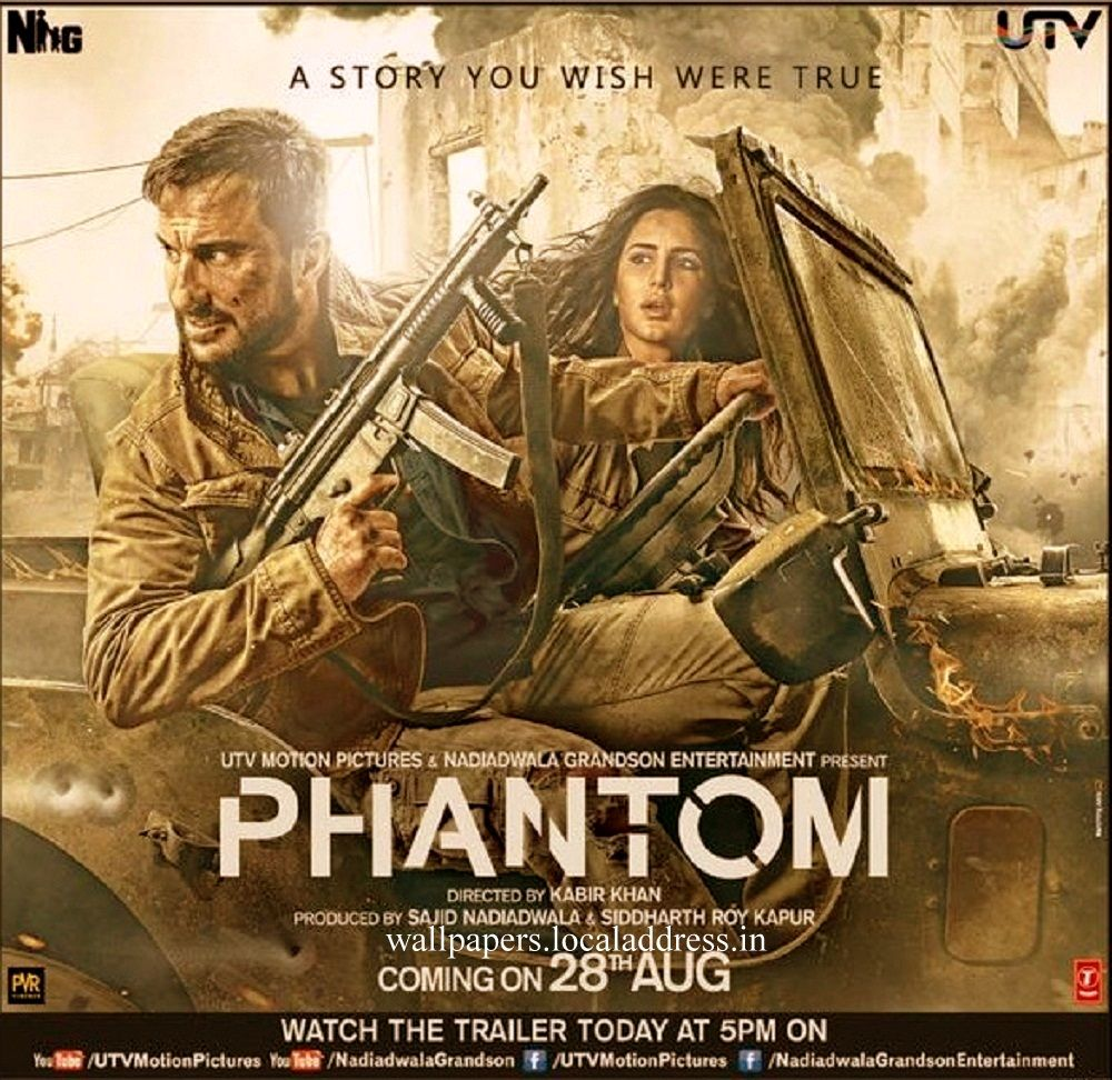Click to Download➤➤➤ https://phantommoviedownload.wordpress.com/ Phantom is an upcoming Indian counter-terrorism drama film directed by Kabir Khan, and produced by Sajid Nadiadwala. It stars Saif Ali Khan and Katrina Kaif in lead roles. The film is about the post-26/11 attacks in Mumbai and global terrorism. The screenplay of the film has been written in co-ordination with best-selling author Hussain Zaidi, and is an adaptation of his recently released book titled Mumbai Avengers.