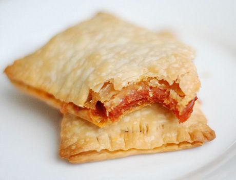 Riley's idea for dinner HOMEMADE pepperoni pizza pockets. You can put your favorite pizza topping in it