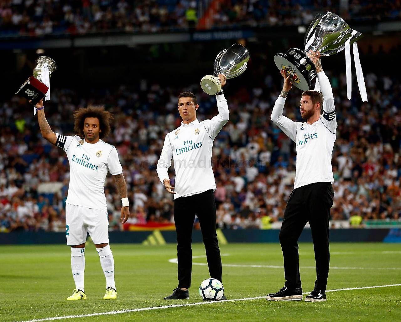Marcelo Cristiano Ronaldo Sergio Ramos Real Madrid 2017 Real Madrid Real Madrid Players Madrid