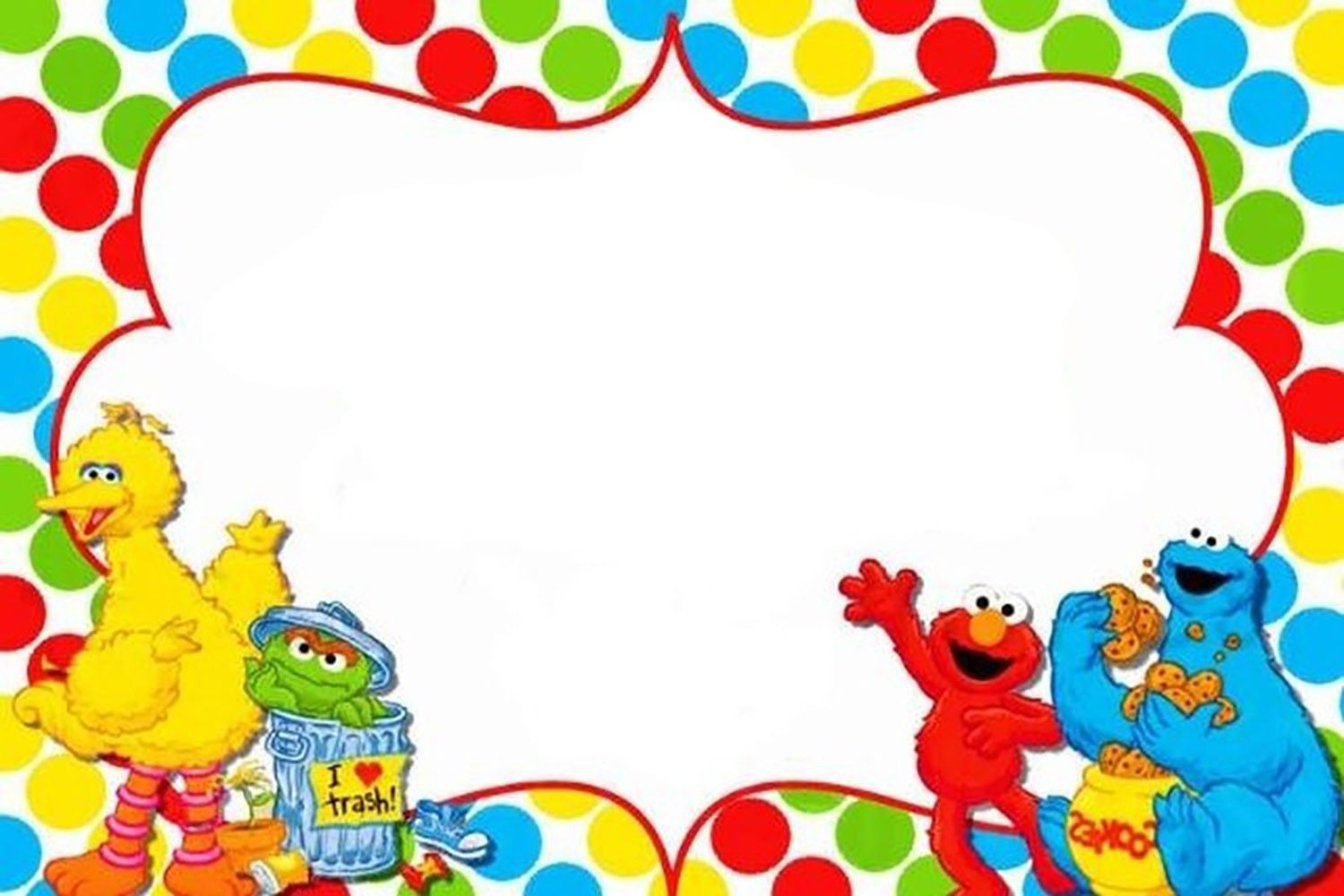 Free Printable Sesame Street Invitation Templates  Invitations