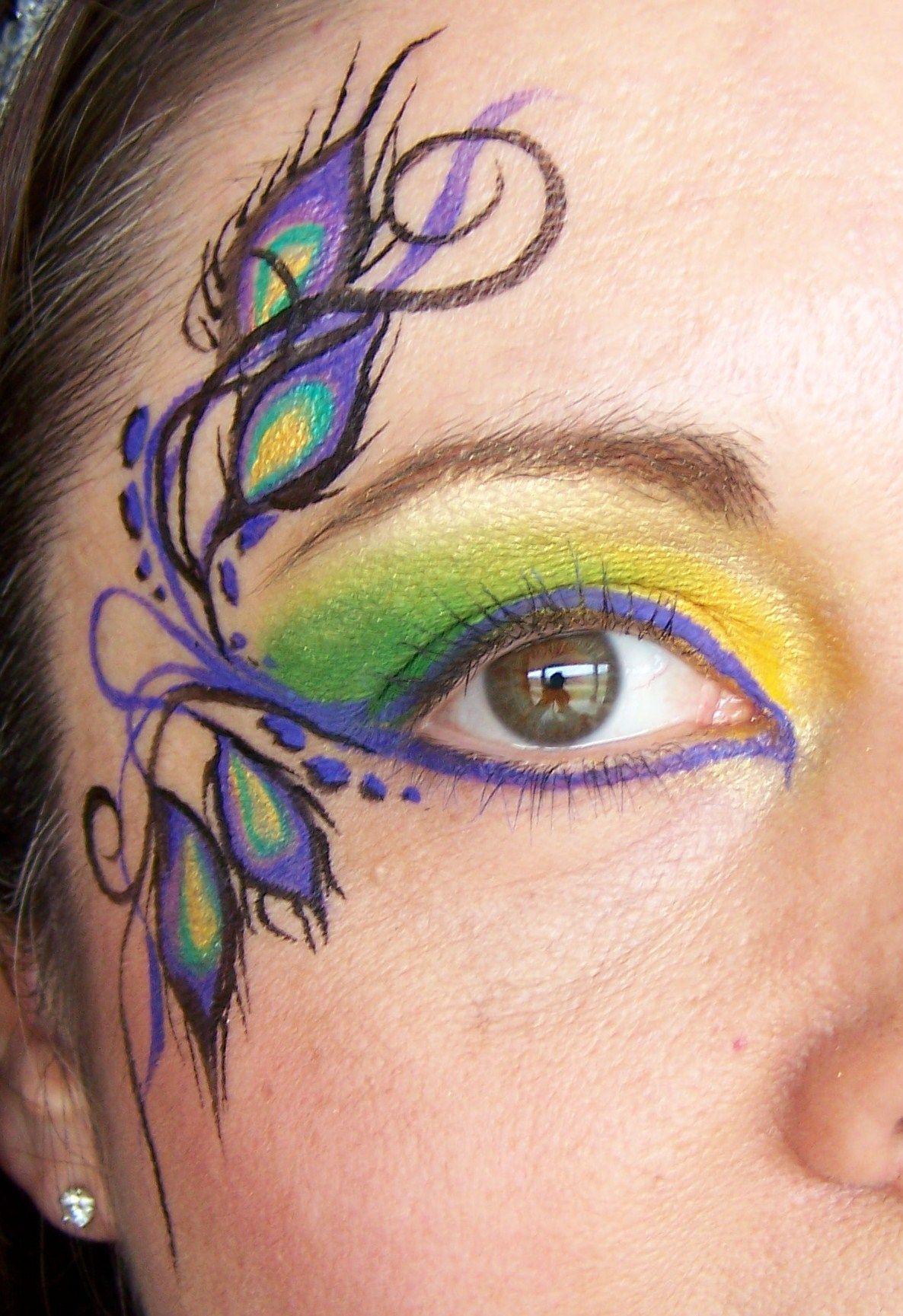 fantasy eye by jody rife peacock feathers verkleidung pinterest kinderschminken pfau. Black Bedroom Furniture Sets. Home Design Ideas