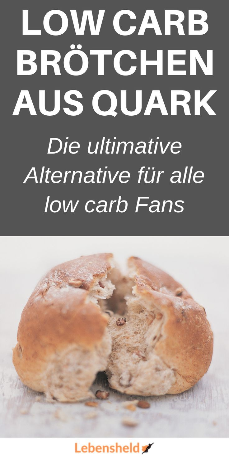 Low carb Quarkbrötchen - Die ideale low carb Alternative - Lebensheld