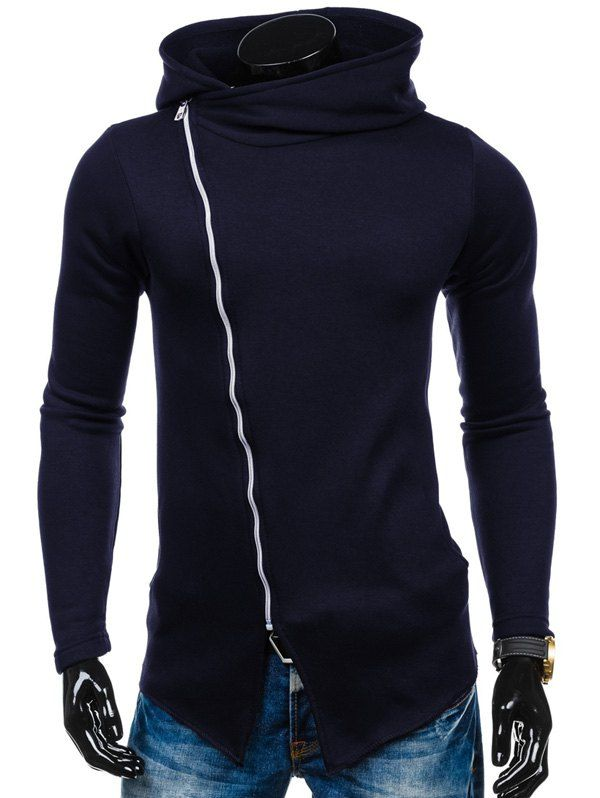 Side Zipper Up Asymmetric Hoodie #shoes, #jewelry, #women, #men, #hats, #watches