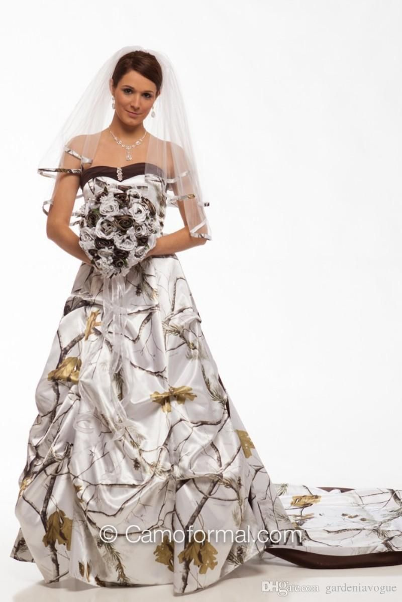 Cheap Camo Wedding Dresses/Winterwhite Sweetheart Ball Gowns ...