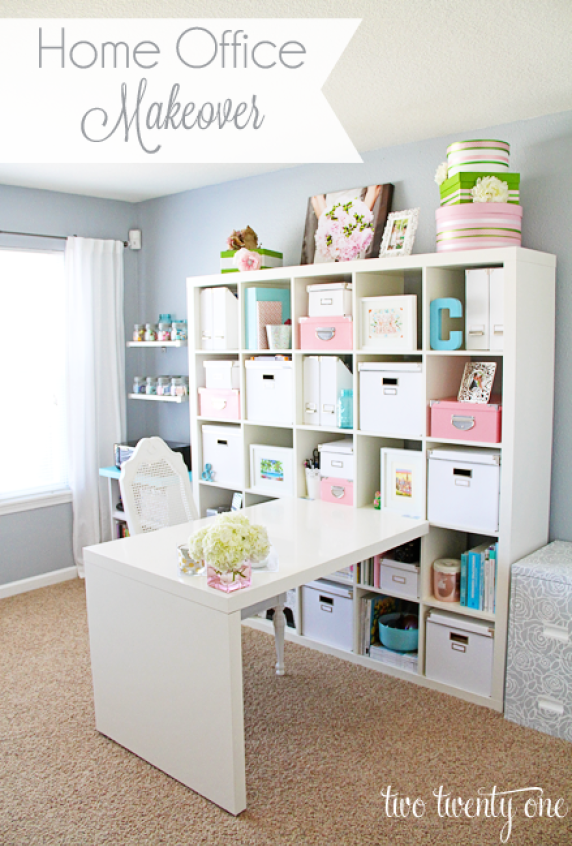 home office ikea expedit. Home-office-makeover Home Office Ikea Expedit