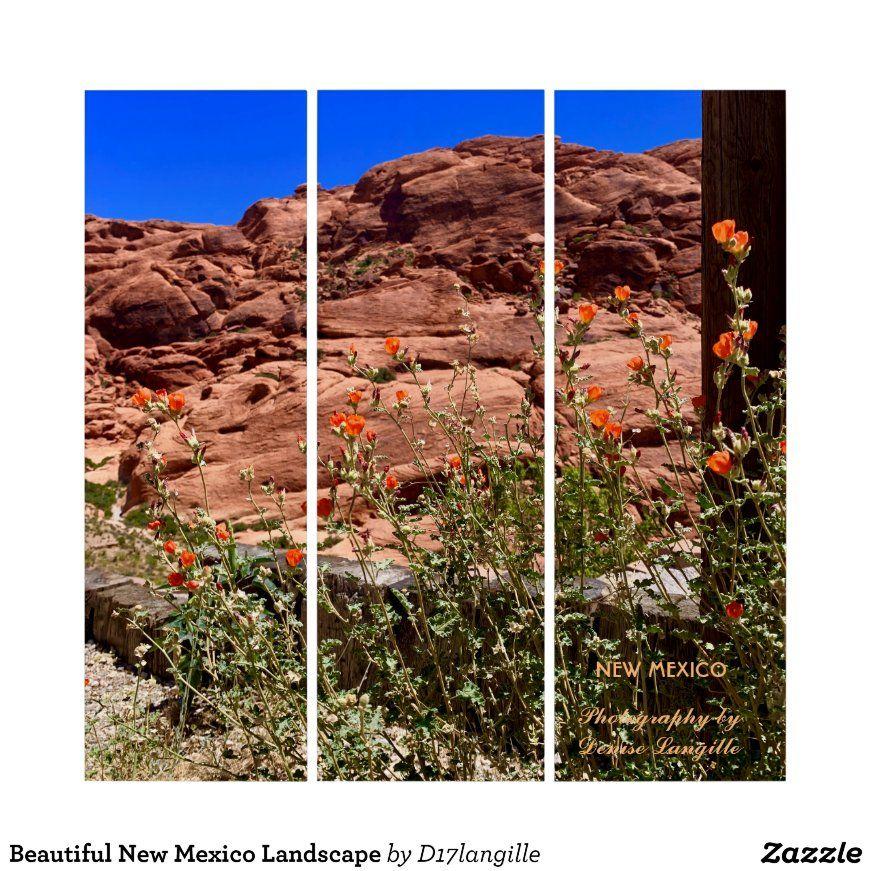 Beautiful New Mexico Landscape Triptych Zazzle Com Triptych Photography Triptych Triptych Wall Art