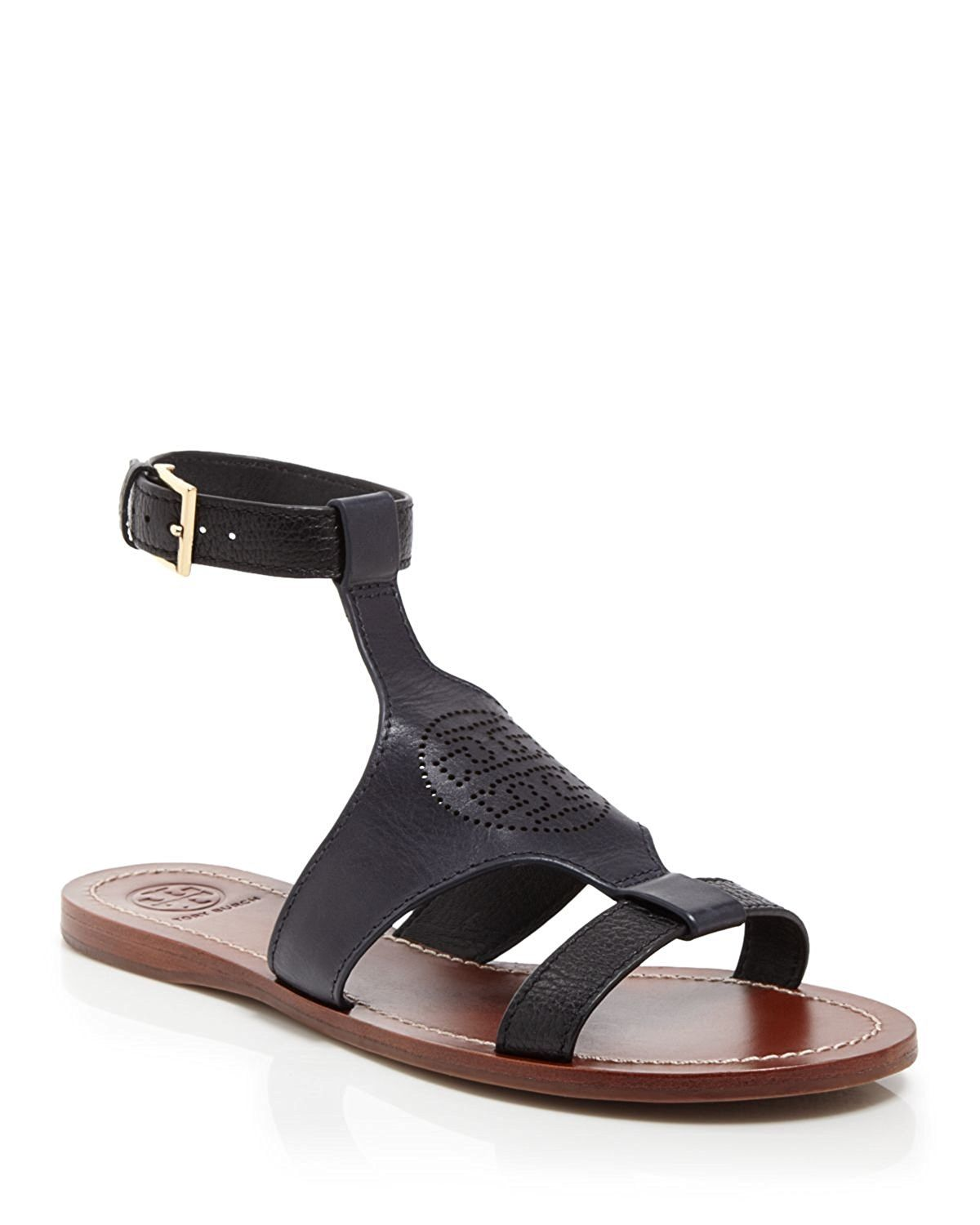 ffdada9c8 Tory Burch perforated logo flat sandal