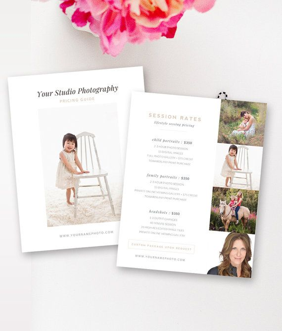 Lifestyle Photography Pricing Template, Price List, Pricing Guide - guide templates