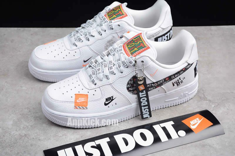 3115434fcfb nike air force 1 07 low premium just do it custom air forces white black af1