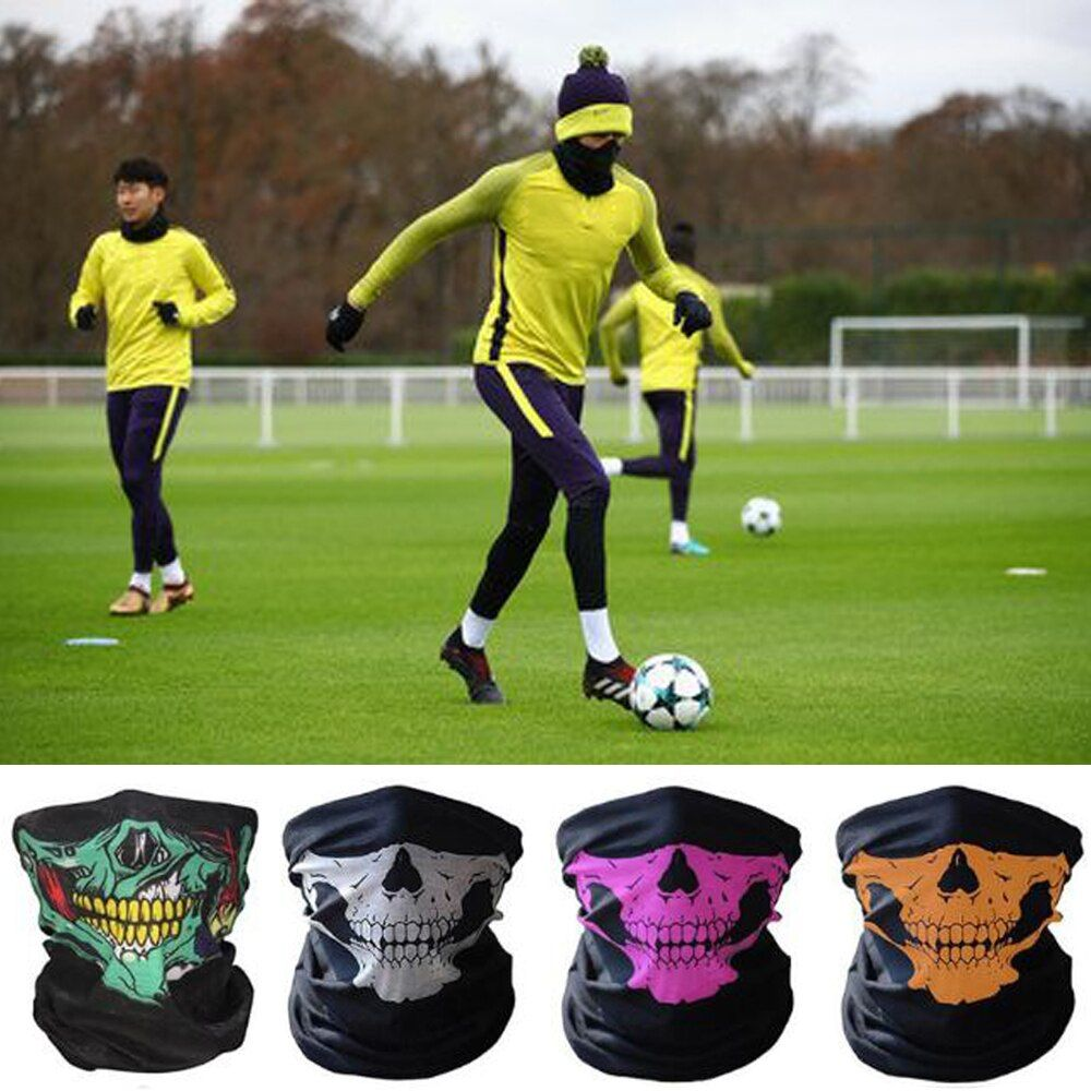 Skull Ghost Face Scary Mask Windproof Outdoor Sports Football Dust Proof Caps Soccer Training Masks Scarf Skeleton Party Mask