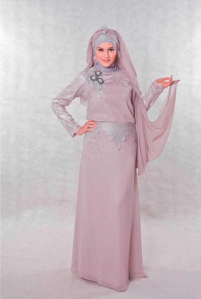 Dress Baju Pesta Muslimah Grey Yang Elegan Shoping Dresses