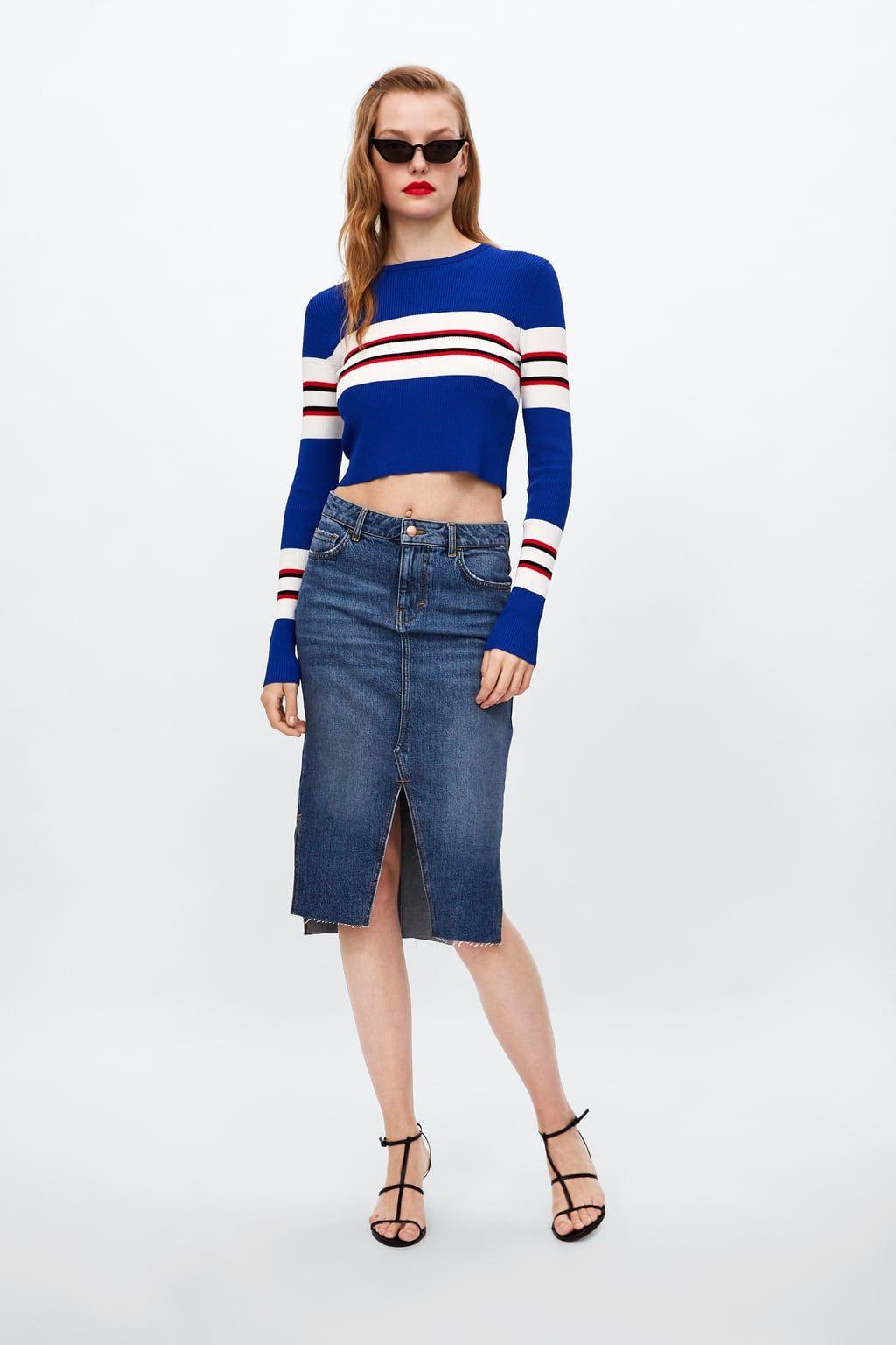 d37d845f173f8 Jean En 2018 Image Jupe Zara Tube Mode 1 De Z1975 qIPITX