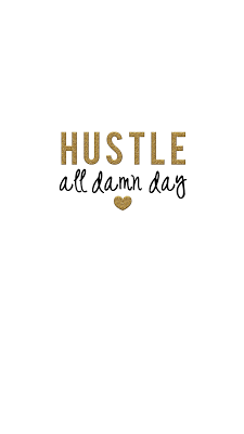 Hustle Hard Gold Glitter Phone Wallpaper For Android And IPhone Free