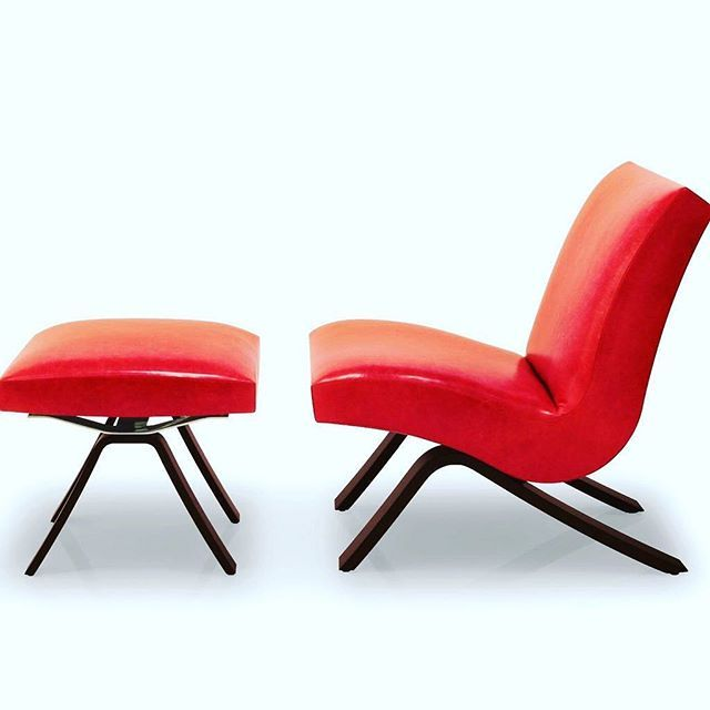 Captivating The Bump Wave Chair + Ottoman Flashing Back From The Early 90u0027s In Red Hot  Leather