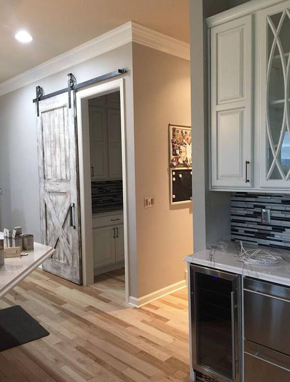 Basement Room Door Ideas: Custom Bottom X Sliding Barn Door