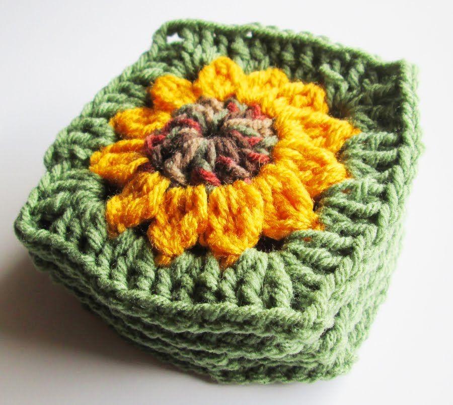 Vol 13 - Crochet Pattern - Granny Square - Sunflower | CROCHET ...
