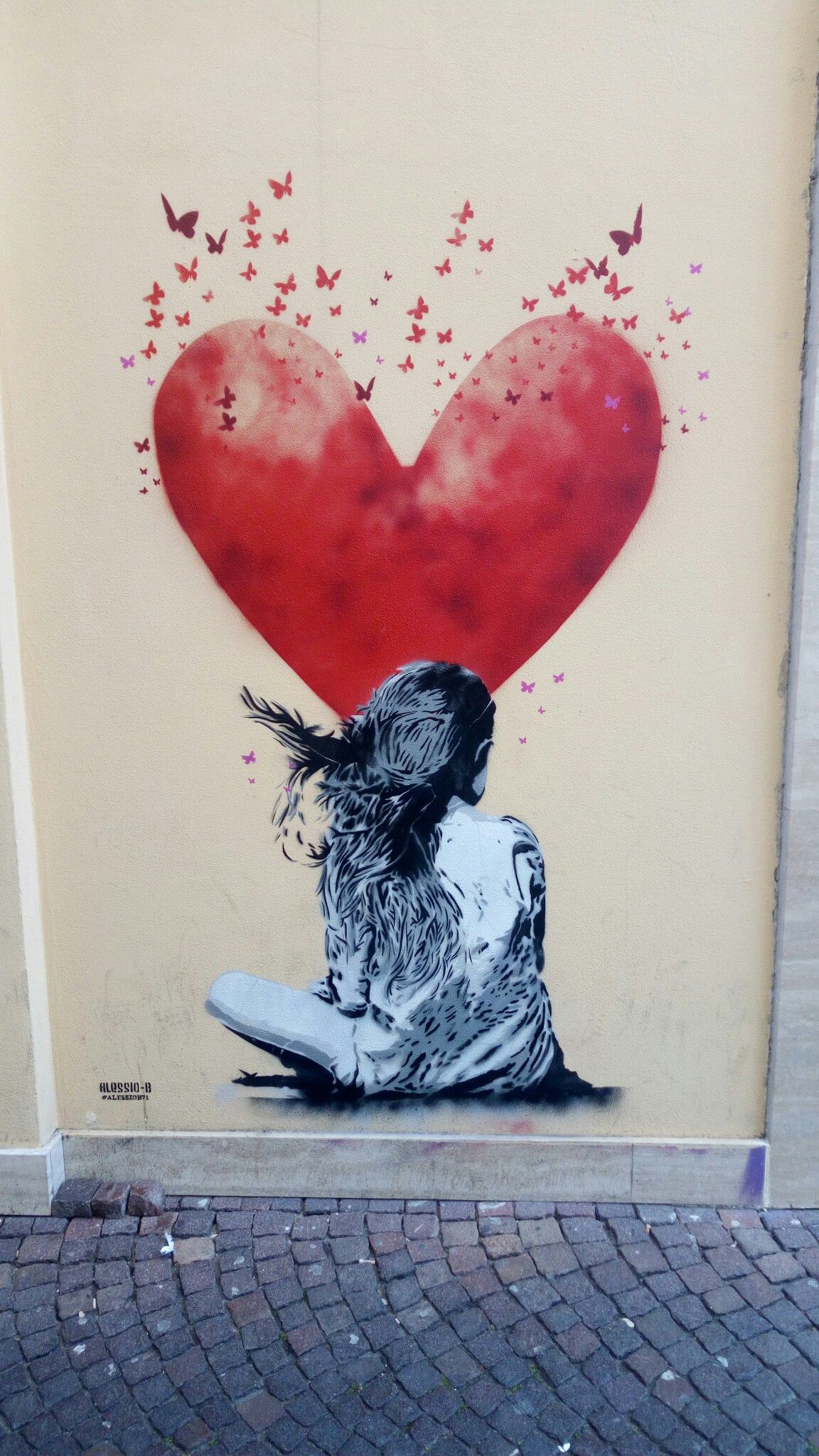Banksy Just to Be Thankful for What you got Reprint on Framed Canvas Wall Art