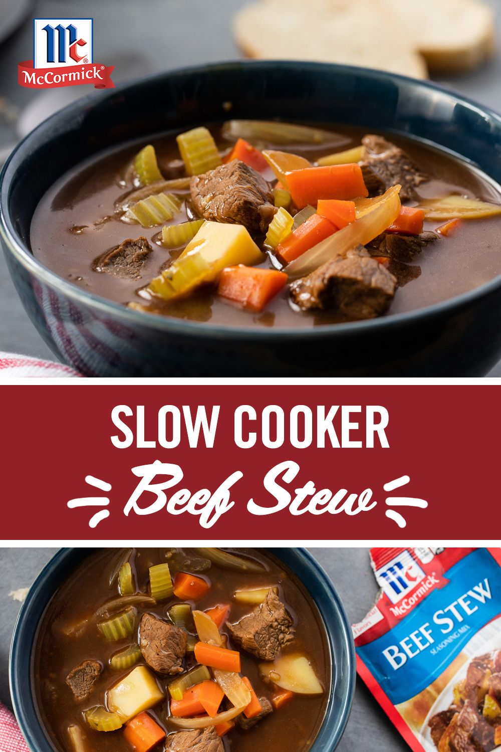This Slow Cooker Beef Stew Takes Only 10 Minutes Of Prep Time And Is The Perfect Winter Wee With Images Crockpot Recipes Slow Cooker Slow Cooker Beef Stew Slow Cooker Beef
