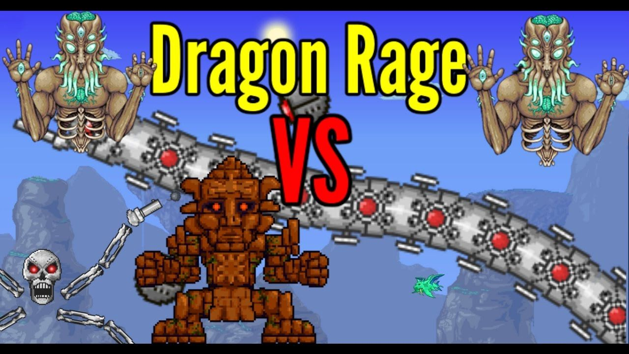 Terraria Dragon Rage Vs All Bosses Rage Dragon Book Cover