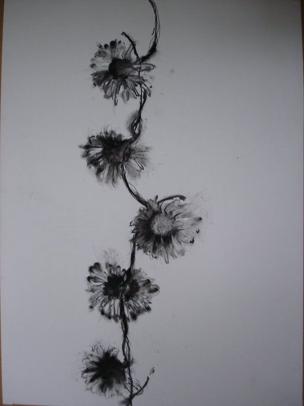 White Word Tattoos It Has To Look Real Although It Will Be Black And White Not Colour I Daisy Chain Tattoo Chain Tattoo Flower Tattoos