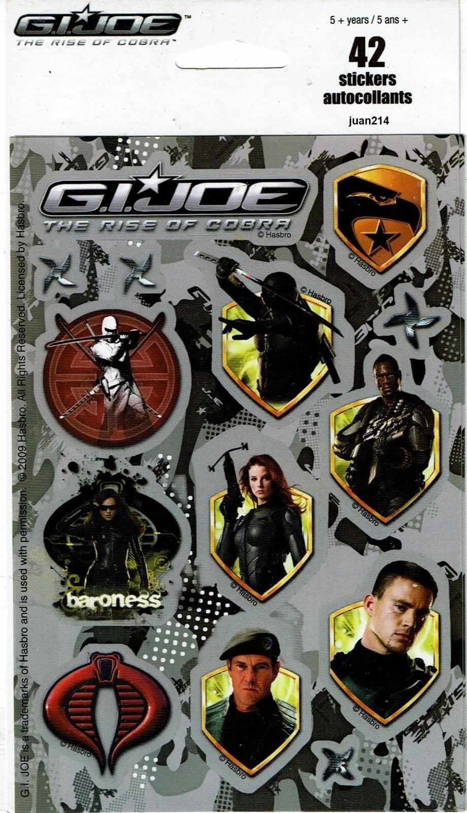 G I Joe The Rise Of Cobra 42 Stickers Retaliation Duke Snake Eyes Baroness 67008457762 Ebay Snake Eyes Stickers Dora The Explorer [ 1600 x 920 Pixel ]